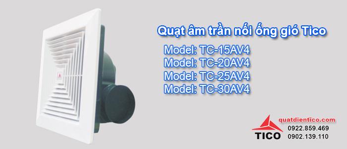 Quạt âm trần nối ống gió Tico giá rẻ tại Hà Nội