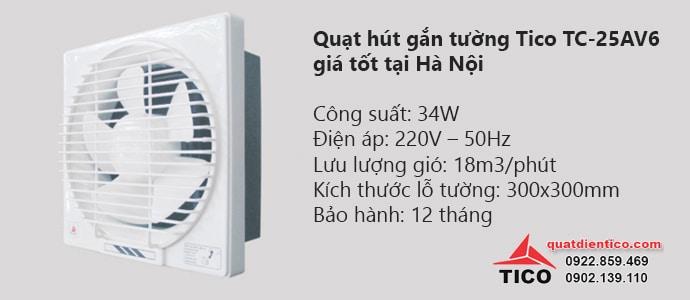 Quạt hút gắn tường Tico TC-25AV6 giá tốt tại Hà Nội