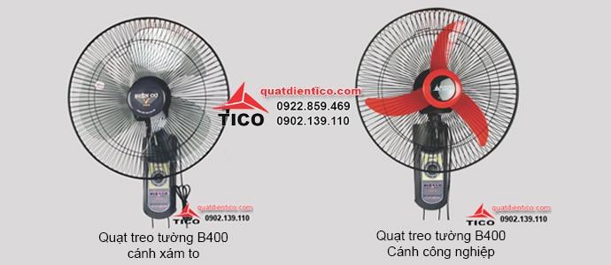 Quạt treo tường điện cơ Tico B400 2 dây