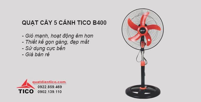 Quạt cây 5 cánh Tico B400 giá rẻ