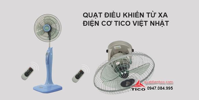 Ba mẫu quạt điều khiển từ xa điện cơ tico Việt Nhật