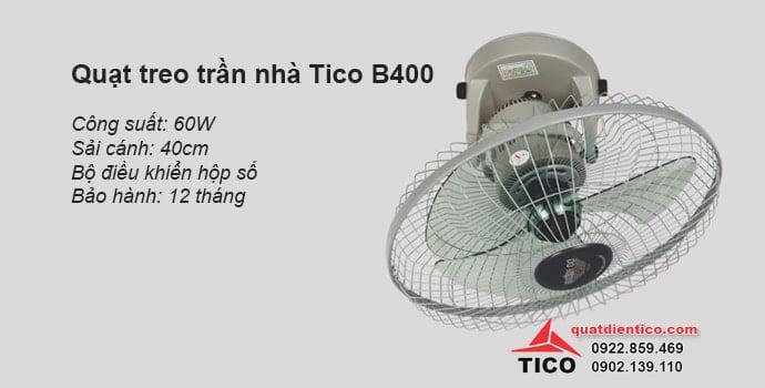 Quạt treo trần nhà Tico B400 giá rẻ
