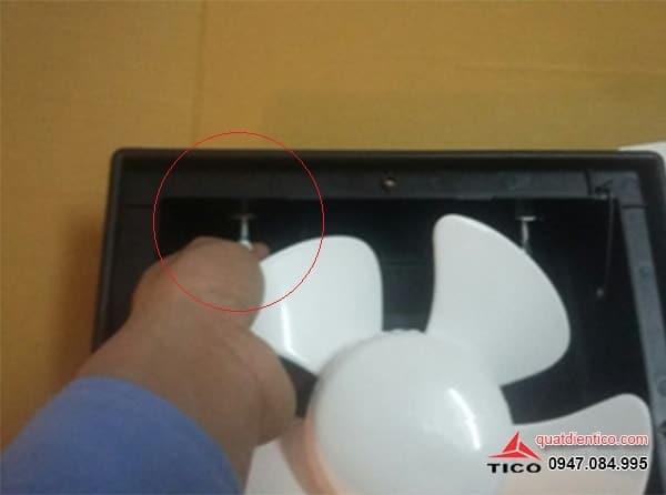 Cách lắp quạt thông gió gắn tường Tico