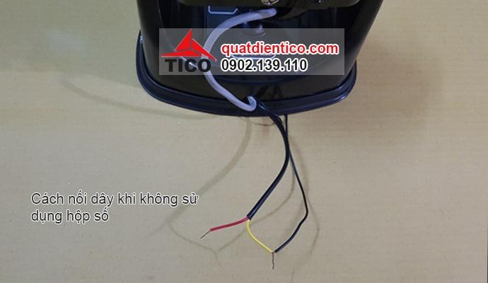 Cách đấu dây hộp số quạt trần đảo trần Tico